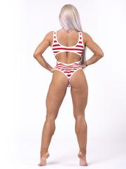 Купальник слитный Nebbia 676 Red/White Stripes