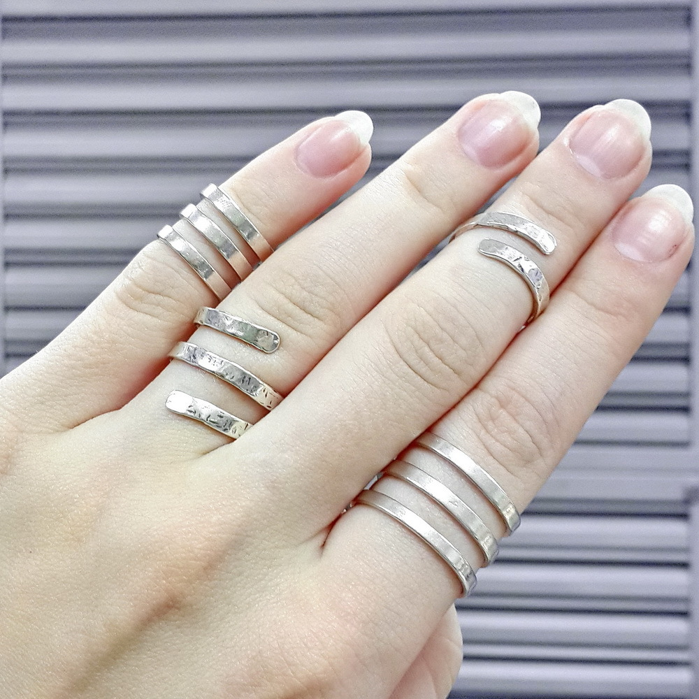 Phalanx rings New Day, Sterling Silver