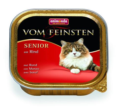 Консервы Animonda Vom Feinsten Senior с говядиной для кошек старше7 лет