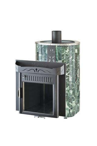 Печь Оптима (Жадеит рисунок) от/каменка об/металл