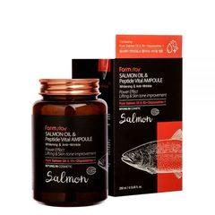 Сыворотка ампульная многофункциональная с маслом лосося и пептидами FarmStay Salmon Oil &Peptide Vital Ampoule