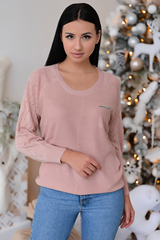 <p>Пуловер с люрексом- актуальная модель осень 2020.Идеальный женственный вариант на каждый день!&nbsp;</p> <p>&nbsp;</p> <p>(Один размер: 44-50)</p>