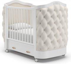 Кровать детская Тиффани декор стразы белый