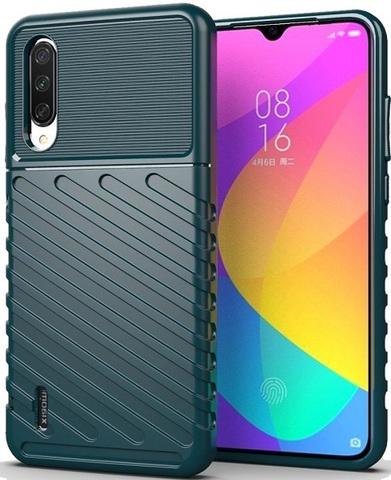 Чехол Xiaomi Mi 9 Lite (A3 Lite, CC9) цвет Green (зеленый), серия Onyx, Caseport
