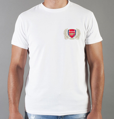 Футболка с принтом FC Arsenal (ФК Арсенал) белая 0016