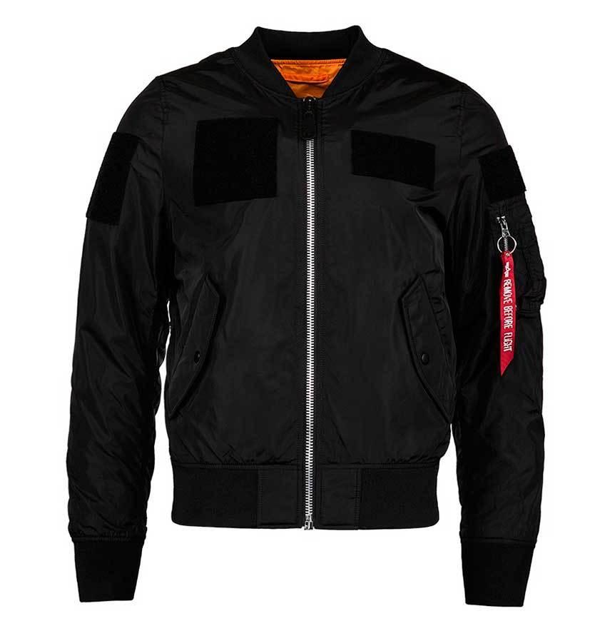 Куртка Бомбер L-2B Flex Alpha 2017 (черная - black)