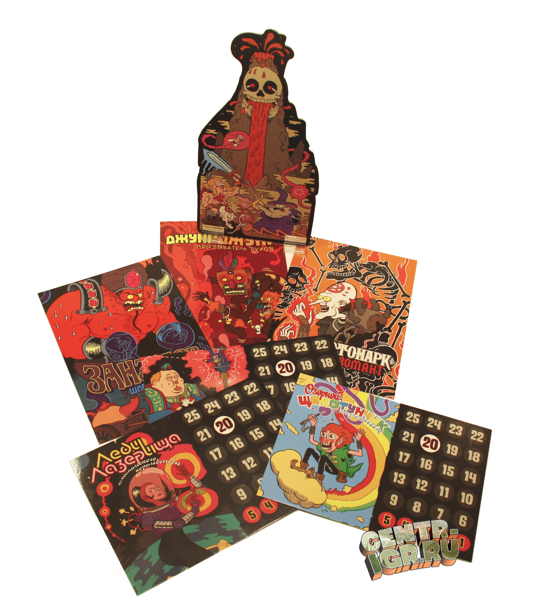 Настольная игра Эпичные схватки боевых магов: Битва на горе Черепламени карты героев