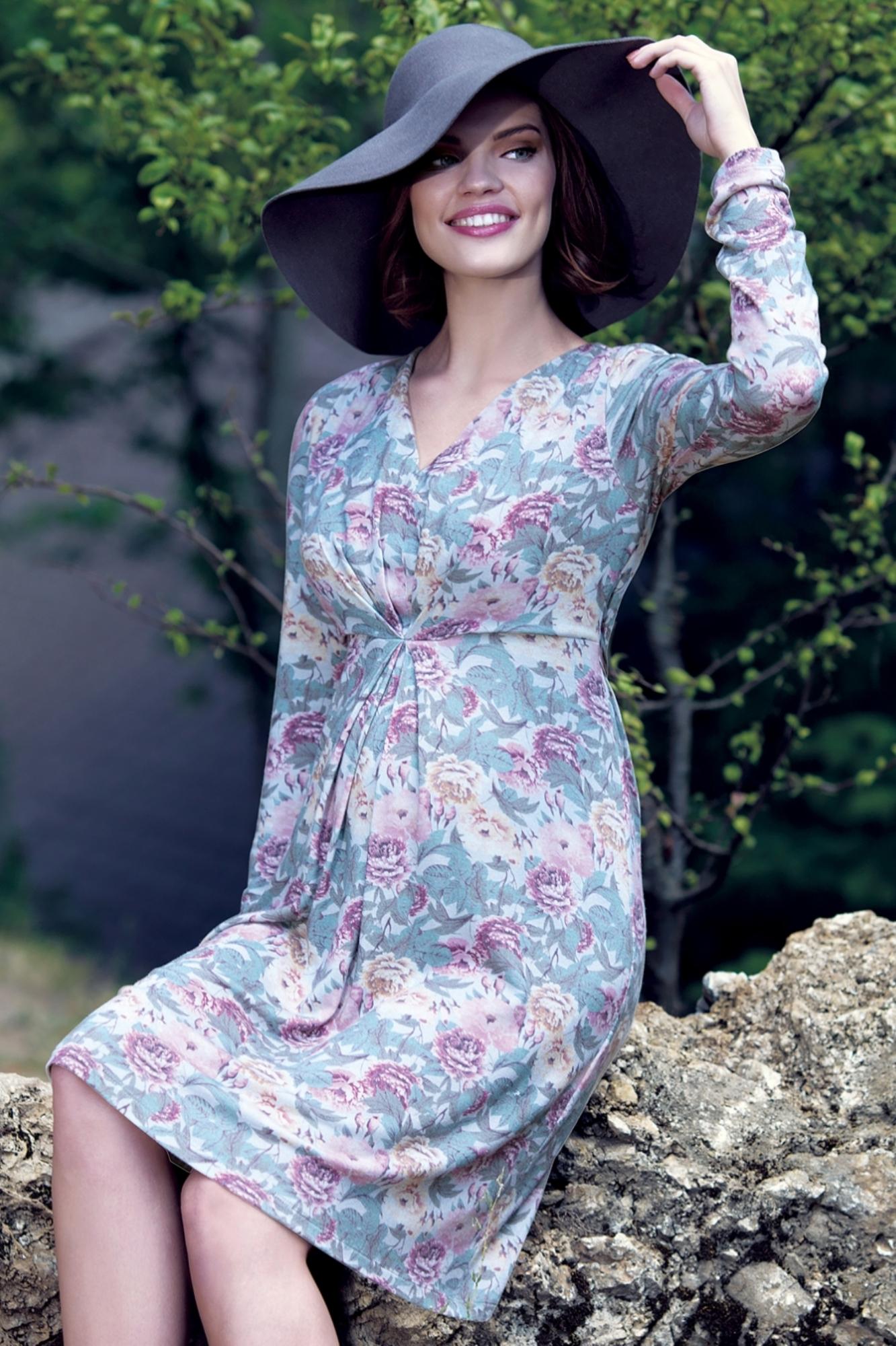 Платье для беременных 05540 цветочный принт