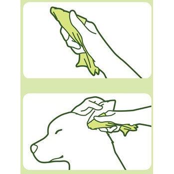 94186 - Влажные салфетки для чистки ушей собак с экстрактом алоэ