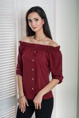 Мика. Молодежная оригинальная летняя блуза. Бордо
