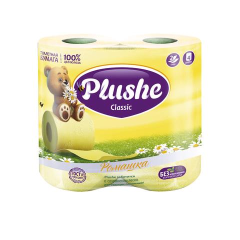 """Туалетная бумага """"Plushe"""" Classic Арома Ромашка 2сл 4шт"""