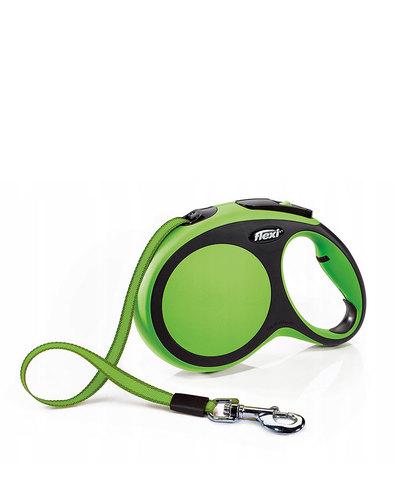 Flexi поводок-рулетка New Comfort S (до 15 кг) лента 5 м (черный/зеленый)
