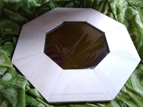 Зеркало 8-угольное в деревянной раме заготовка для рукоделия