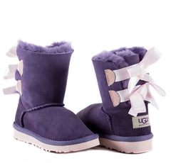 UGG Kids Bailey Bow Purple Pink