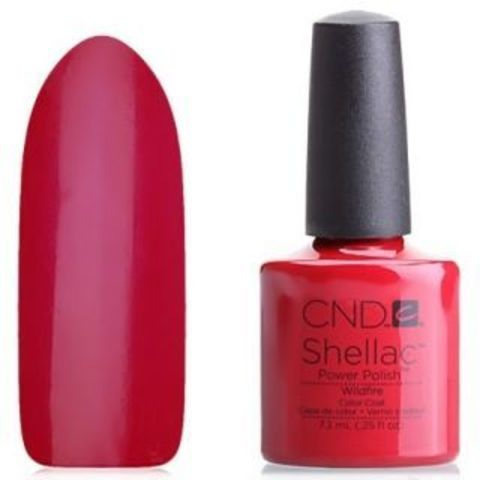 CND Шеллак 7,3 мл. WildFire красный, классика.
