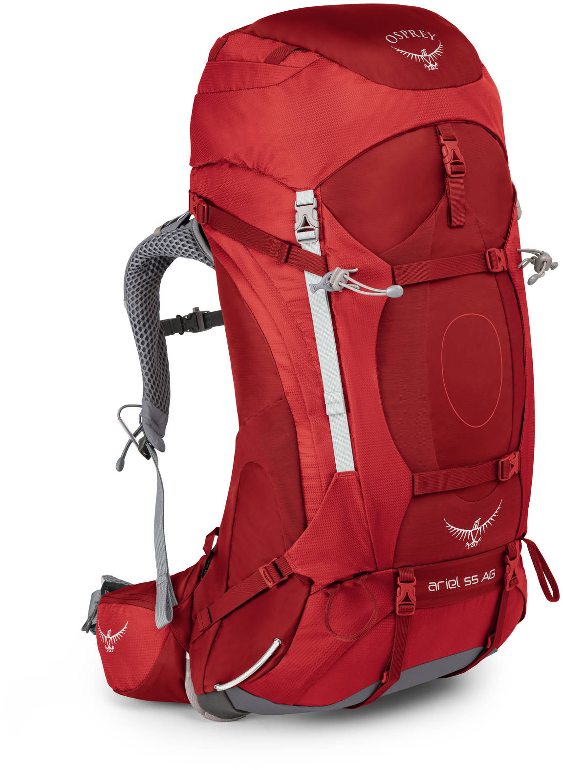 Туристические рюкзаки Рюкзак туристический женский Osprey Ariel AG 55 Ariel_AG_55_S17_Side_Picante_Red_web.jpg