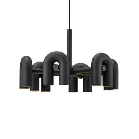 Подвесной светильник Cirkus by AGO Lighting (6 плафонов/черный)