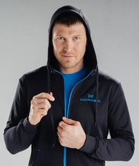 Толстовка с капюшоном мужская Nordski Hood Black-Blue