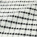 Вискозно-хлопковая ткань белого цвета в черную клетку в стиле