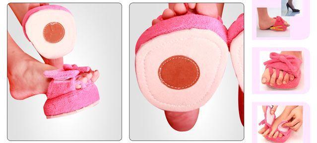 Тапочки-тренажеры для ног с разделителями пальцев