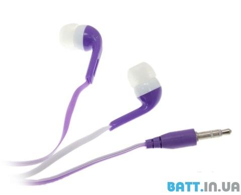 Наушники вакуумные Econom purple (пакет)