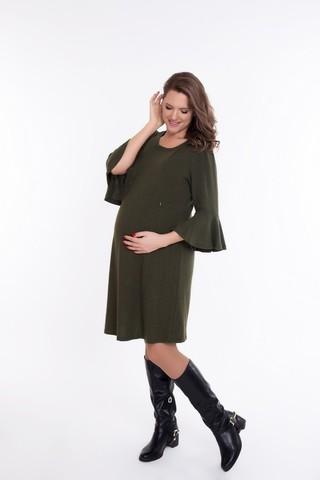 Платье для беременных и кормящих 09076 зеленый