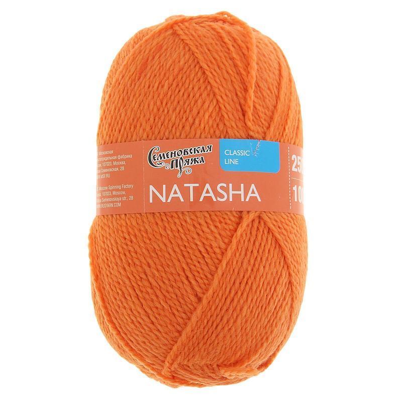 Пряжа Семеновская Наташа ПШ 670 морковный