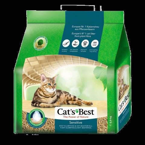 Cat's Best Sensitive Наполнитель для туалета кошек древесный комкующийся