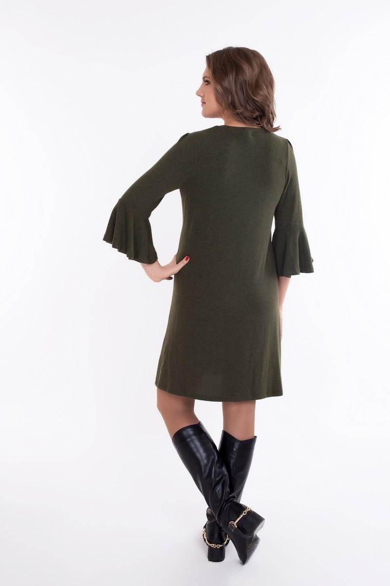 Фото платье для беременных и кормящих GEMKO. трикотажное от магазина СкороМама, зеленый, размеры.