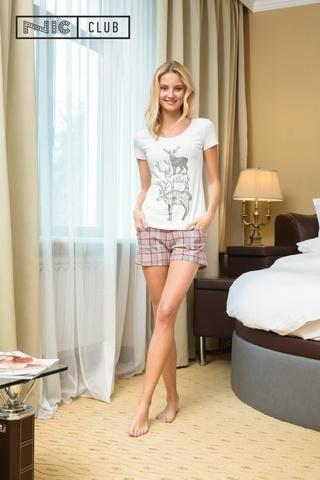 Розовый Комплект: футболка и шорты Nic Club Pretty 1702