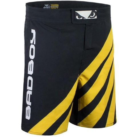 Шорты для MMA Bad Boy Training Series Impact Shorts Black/Yellow