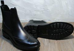 Резиновые сапоги для города женские черные W9072Black.