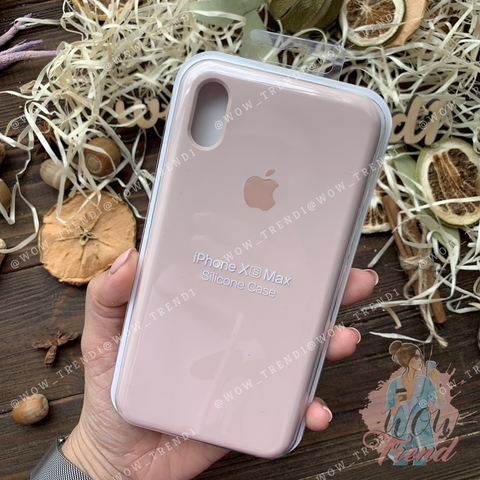 Чехол iPhone XS Max Silicone Case Full /pink sand/ розовый песок