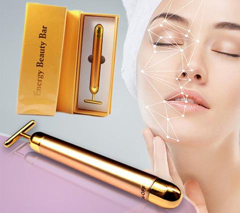 Ионный вибромассажер Revoskin Gold- Energy Beauty Bar