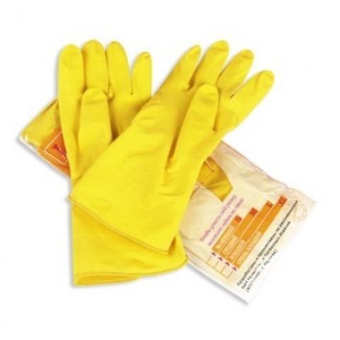 Перчатки латексные Paclan Professional желтые (размер 7, S)