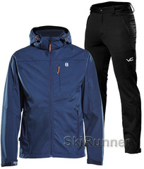 Лыжный утепленный костюм 8848 Altitude Padore Softshell Navy 905 Victory Code Cross Warm