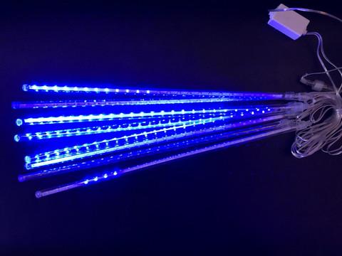 Паличка Сосулька гірлянда 3.5 м. на 30 см. синя