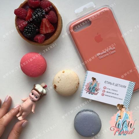 Чехол iPhone 7+/8+ Silicone Case /flamingo/ фламинго original quality