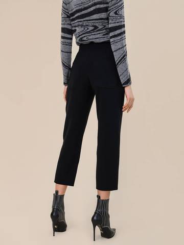 Женские брюки черного цвета из шерсти - фото 4