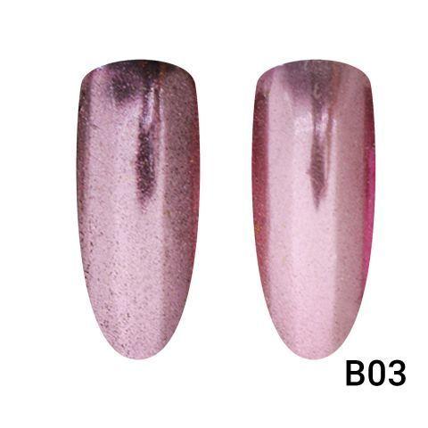 Зеркальная втирка для ногтей розовая В03