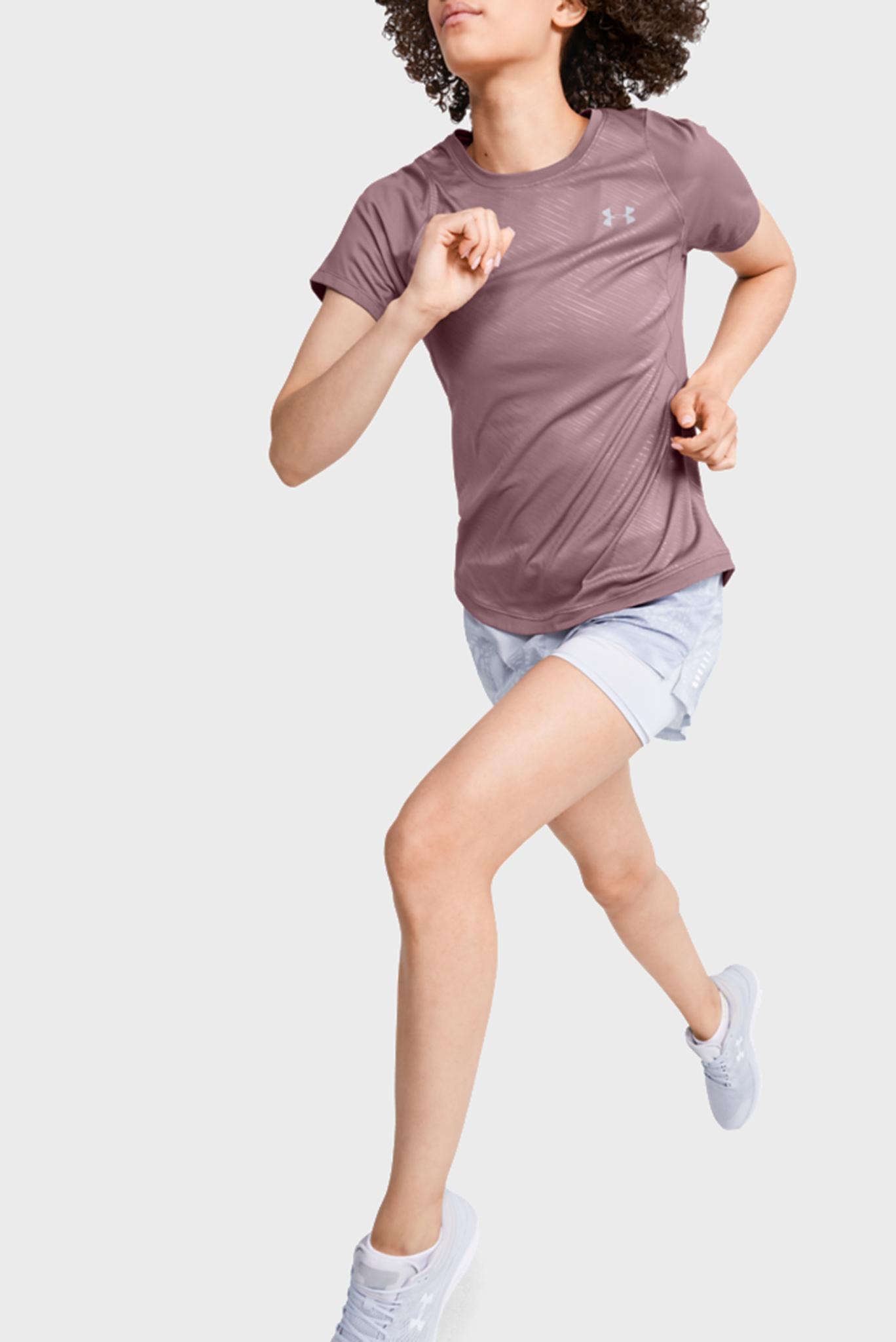 Женская розовая спортивная футболка UA W Qualifier ISO Under Armour