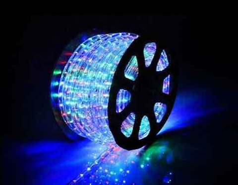 Дюралайт светодиодный, чейзинг, 11мм - 3 жилы - 24 led/m, Мультицветный - 100м