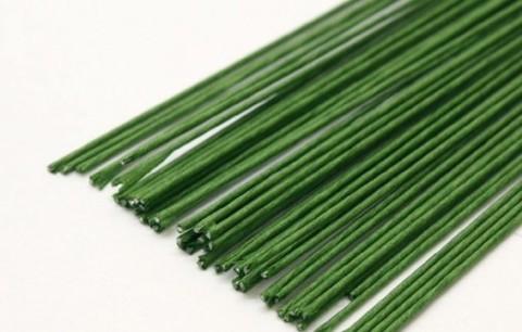 Проволока флористическая в бумаге, цвет Зеленый, 1мм.