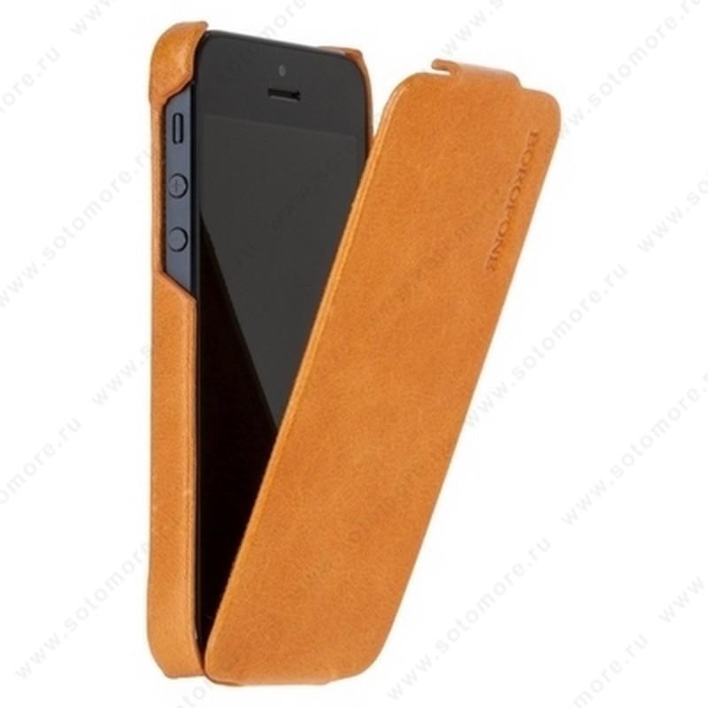 Чехол-флип Borofone для iPhone SE/ 5s/ 5C/ 5 - Borofone General flip Leather Case Orange