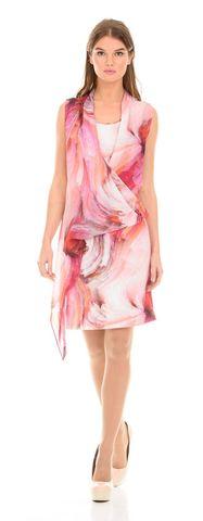 Фото яркое платье с ассиметричным кроем и цветочным принтом - Платье З109-148 (1)