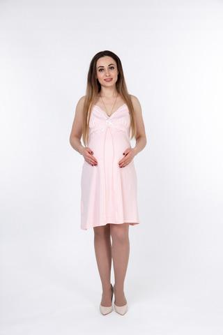 Ночная сорочка для беременных и кормящих 10038 розовый