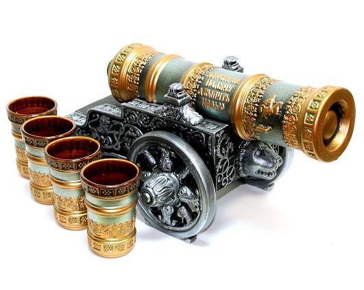 Штоф с рюмками «Царь-пушка», 5 предметов 0,5 л
