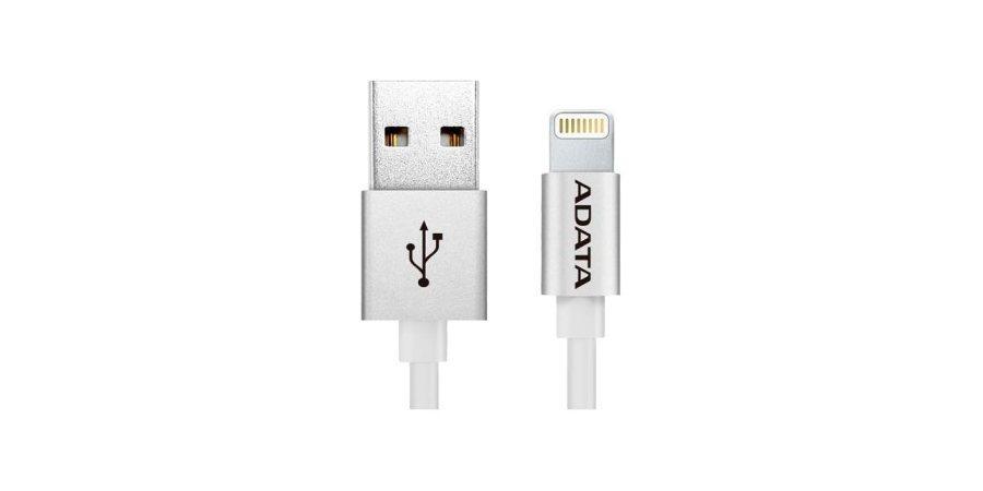 Кабель ADATA Lightning-USB для iPhone, iPad, iPod (сертифицирован Apple) 1м коннекторы