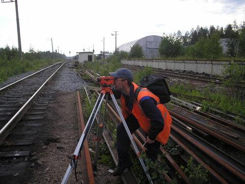 Геодезическая съемка продольного и поперечного профилей железнодорожных путей, оформление Технического паспорта