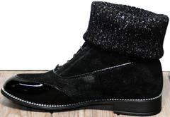 Ботинки со шнуровкой женские Kluchini 5161 k255 Black